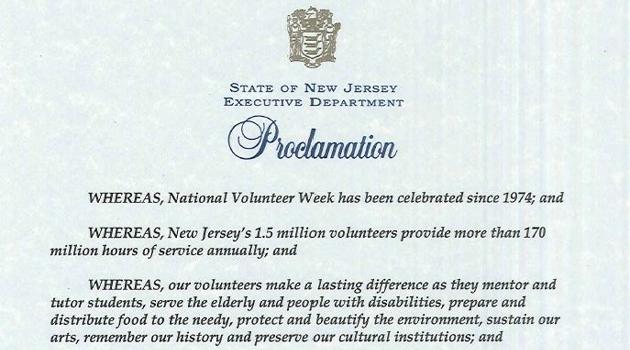 National Volunteer Week Proclamation!