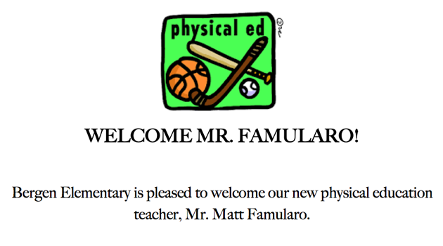WELCOME MR. FAMULARO!