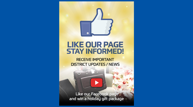 Like our Facebook page and win a holiday gift package!
