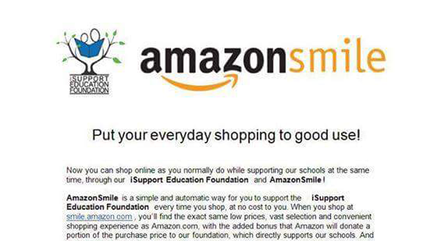The iSupport Education Foundation is teaming up with Amazon Smiles
