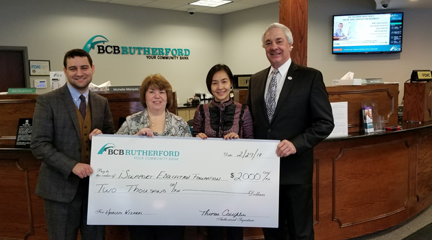 We would like to thank BCB Community Bank for their generous donation to iSupport Education Foundation