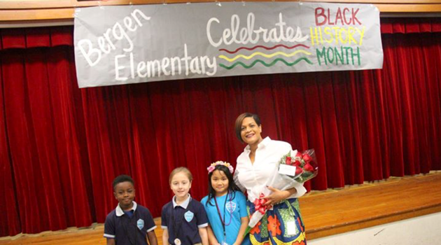 Mrs. Cobb, iLearn Schools Chief of Schools, came to Bergen Elementary as a VIP guest to speak to students for Black History Month.