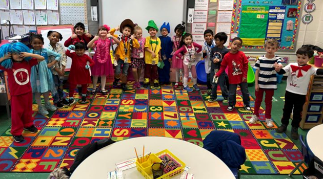 KA is dressed as their favorite characters for Read Across America Day!