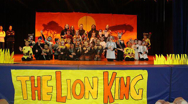 Bergen Elementary 2nd and 3rd graders performed in The Lion King Kids!