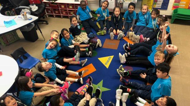 Thursday was Fox in Socks Day at Bergen Elementary