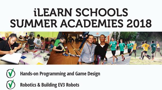 iLearn Schools Summer Academies 2018