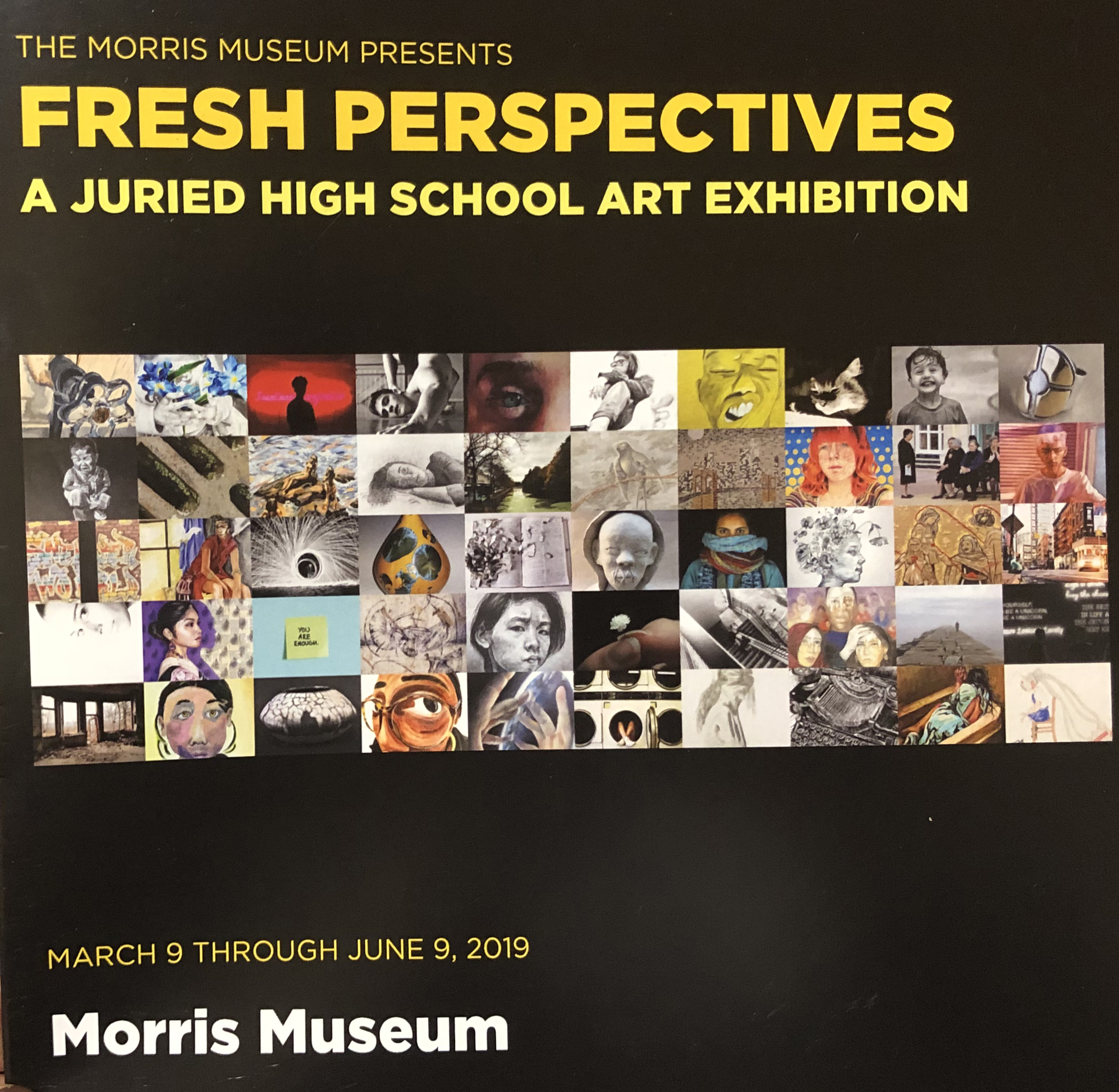 Congratulations Ashley J. and Donna-Faith F. for representing BASCS at The Morris Museum for Fresh Perspectives