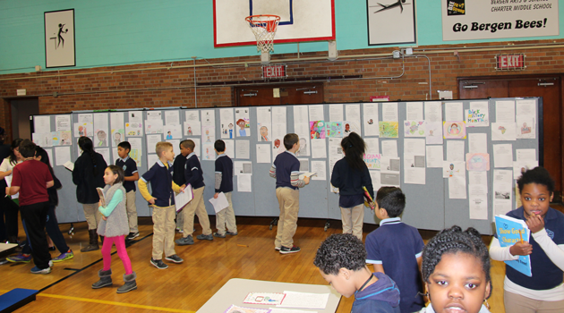 Gallery Walk at BASCS Middle