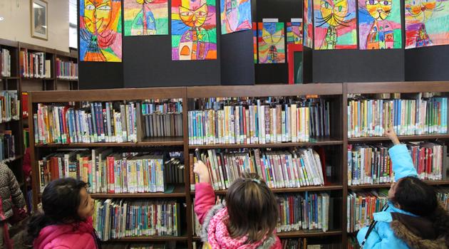 BASCS Elem. Art Display at Garfield Library
