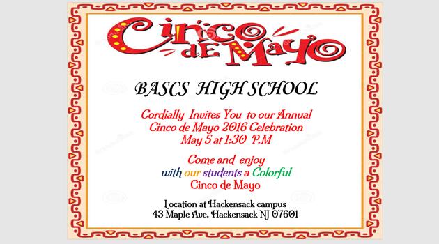 BASCS HS Cinco de Mayo Invite