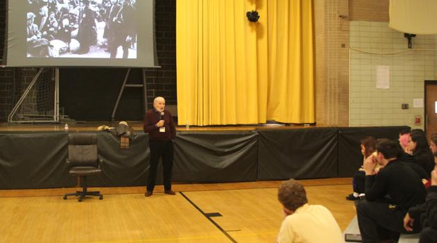 Holocaust Survivor Visit's Bergen High's Junior Class