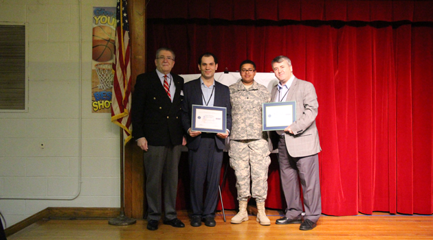 CEO, Mr. Guvercin and Elem. Director Mr. Memedi receive Patriot Award