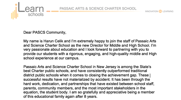 Welcome letter from Passaic ASCS director.