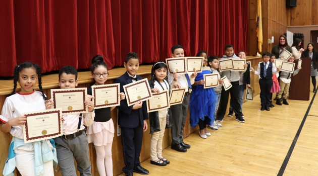 PASCS Clifton Second marking period awards assembly