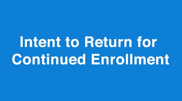 Intent to Return to PASSAIC: ASCS Form