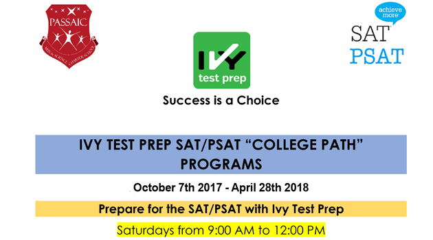 PSAT and SAT Prep classes on Saturdays and Tuesdays!