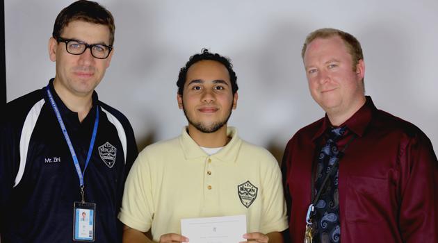 Congratulations to Bergen ASCS High School student Justin Osorio!