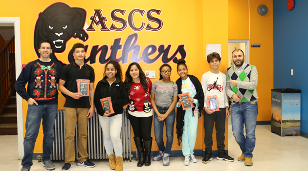 PASCS Middle High Awards Tablets to Top PARCC Growers