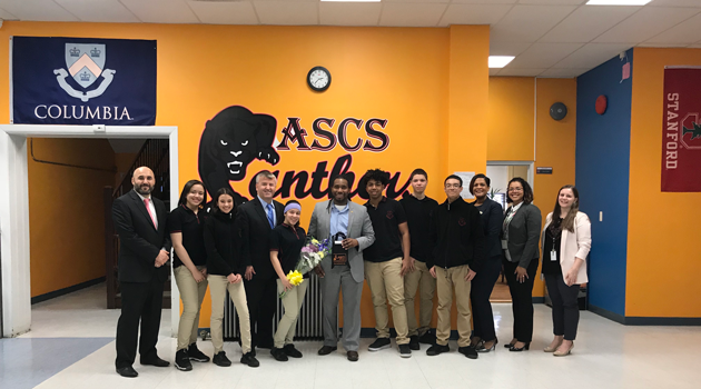 Passaic County Superintendent Dr. Christopher Irving's visit to Passaic ASCS High School