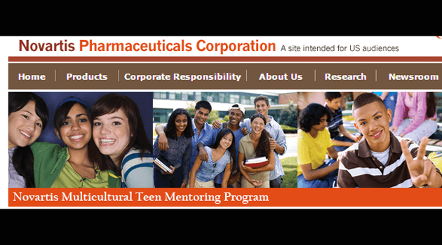 Novartis Pharmaceutical Multicultural Teen Mentoring Program 2017