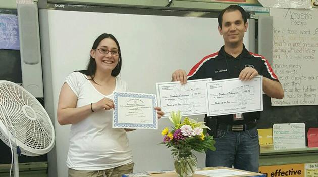 Congratulations Mrs. Echevarria