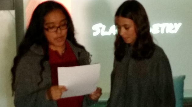 PASCS Middle-High celebrated Read Across America with a Slam Poetry class