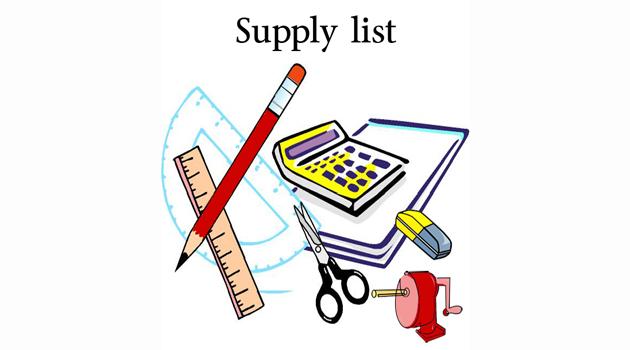 Supply Lists 2018-2019