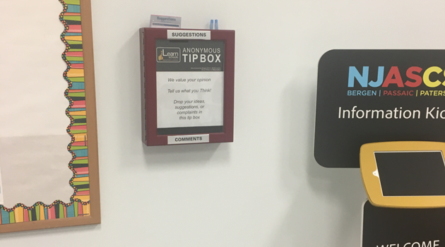 Anonymous Tip Box