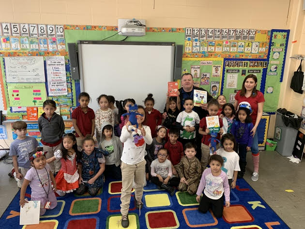 Thank you Detective Kaba for reading to our students during Read Across America Week here a Passaic-ASCS Elementary School.