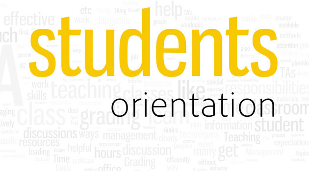 Student Orientation Dates and Times