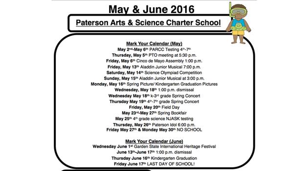 May -June Calendar