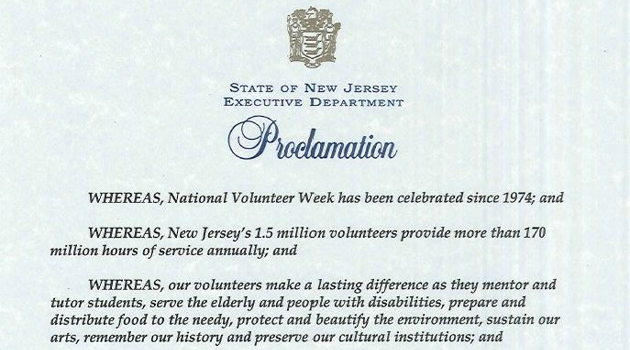 National Volunteer Week Proclamation!