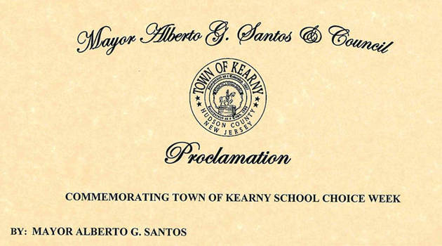 TOWN OF KEARNY SUPPORTS SCHOOL CHOICE!
