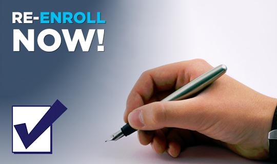 Re-enroll now!