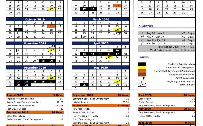 iLearn Schools 2019 2020 Academic Calendar – iLearn Schools